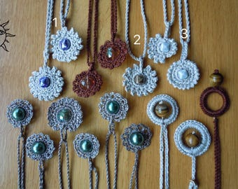 LAURASOLELUNA-crocheted necklace with ceramic stone