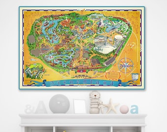 graphic relating to Printable Map of Disneyland identified as Disneyland map print Etsy