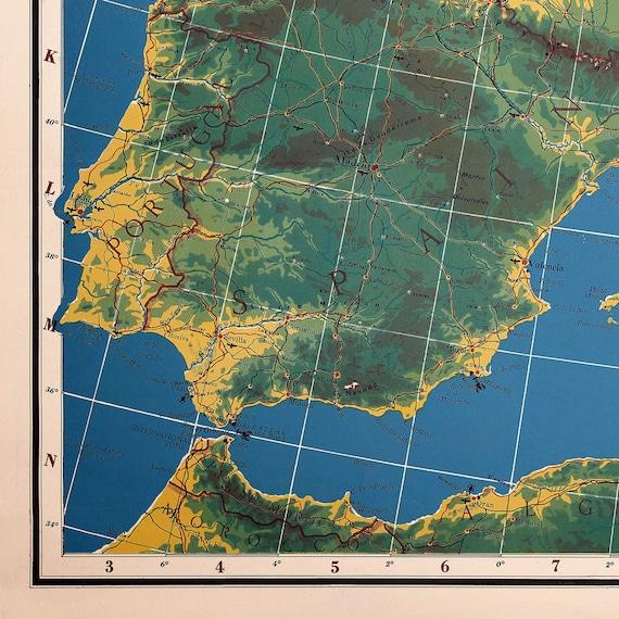 World War 2 Map Of Europe, World War 2 Vintage Europe Map, Europe Wall Map  Print