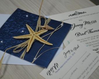 Sample Beach Wedding invitations