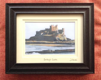 Pencil Drawing of Bamburgh Castle Northumberland