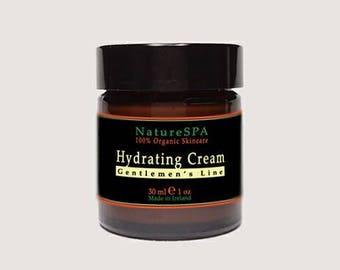 Moisturizing Cream for Men with Hyaluronic Acid and Green Tea prevents wrinkles formation, Organic Anti Aging Hydrating
