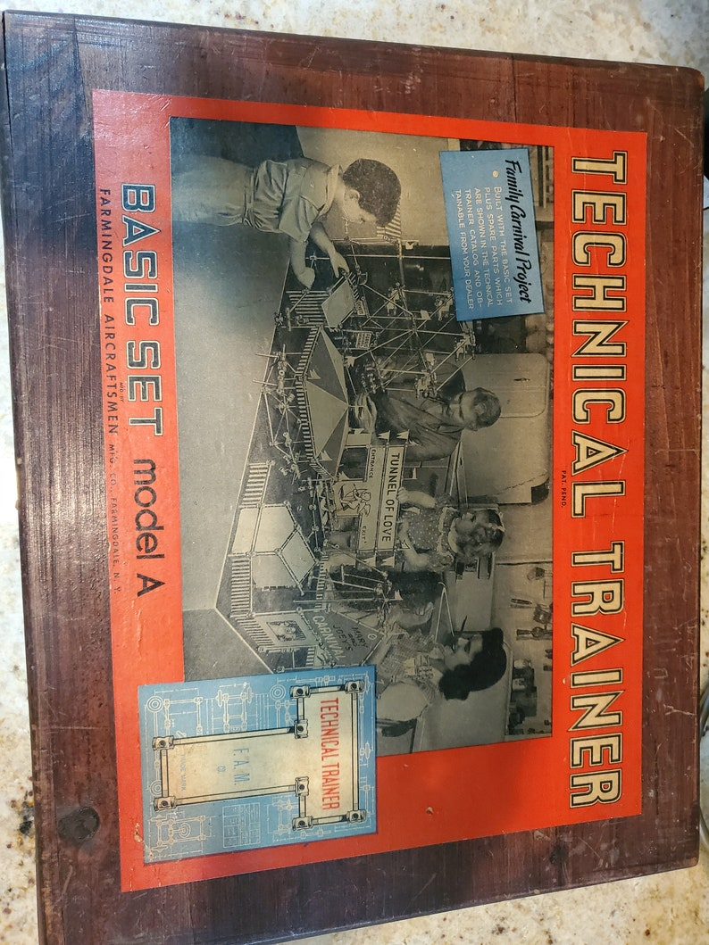 1940s Technical Trainer Family Carnival Project Basic Set Model A by Farmingdale Aircraftsmen