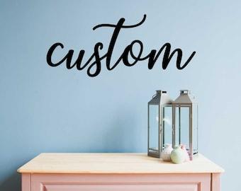 Custom Wall Words - Over Crib Sign - Nursery Decor - Family Name Cutout - Family Room Sign