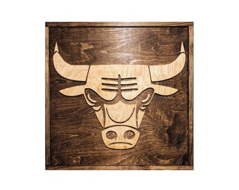 Chicago Bulls Sign - Chicago Bulls Gift - Chicago Bulls Decor - Mancave