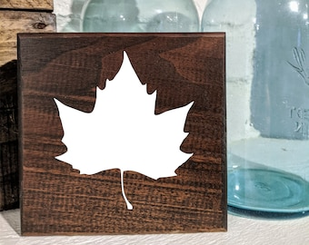 Leaf Fall Sign / Shelf Sitter / Wall Hanging