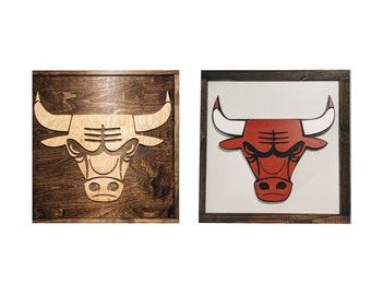 Chicago Bulls Sign - Chicago Bulls Gift - Chicago Bulls Decor - Mancave