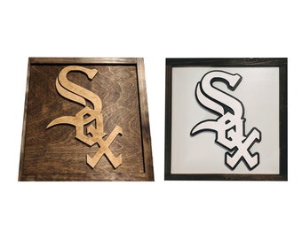 Chicago White Sox Sign - Chicago White Sox Gift - Chicago White Sox Fan - Mancave