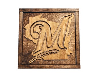 Milwaukee Brewers Sign - Milwaukee Brewer Fan - Brewers Gift - Mancave