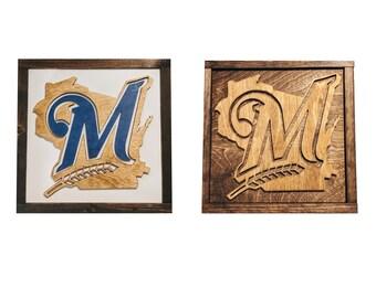 Milwaukee Brewers Sign - Milwaukee Brewer Fan - Brewers Gift - Mancave