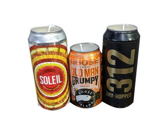 Soy Candle: Goose Island 312 / Soleil / Grumpy Old Man - Beer Lover Gift