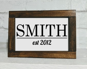 Custom Name Shelf Sitter Sign