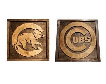 Chicago Cubs Sign - Chicago Cubs Gift - Mancave