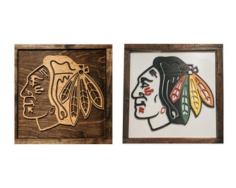 Chicago Blackhawks Sign - Chicago Blackhawks Gift - Mancave