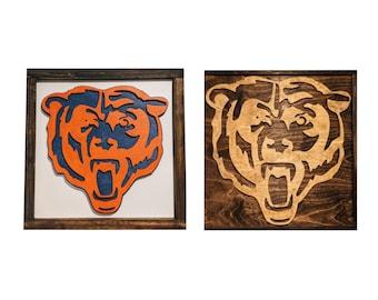 Chicago Bears Sign - Chicago Bears Gift - Chicago Bears Art - Mancave
