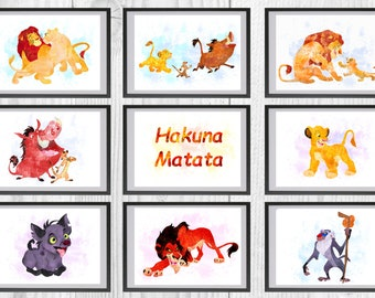 3d Window Lion King Wall Stickers Kids Nursery Decor Art Simba Zazu Pumbaa Gift Home Décor