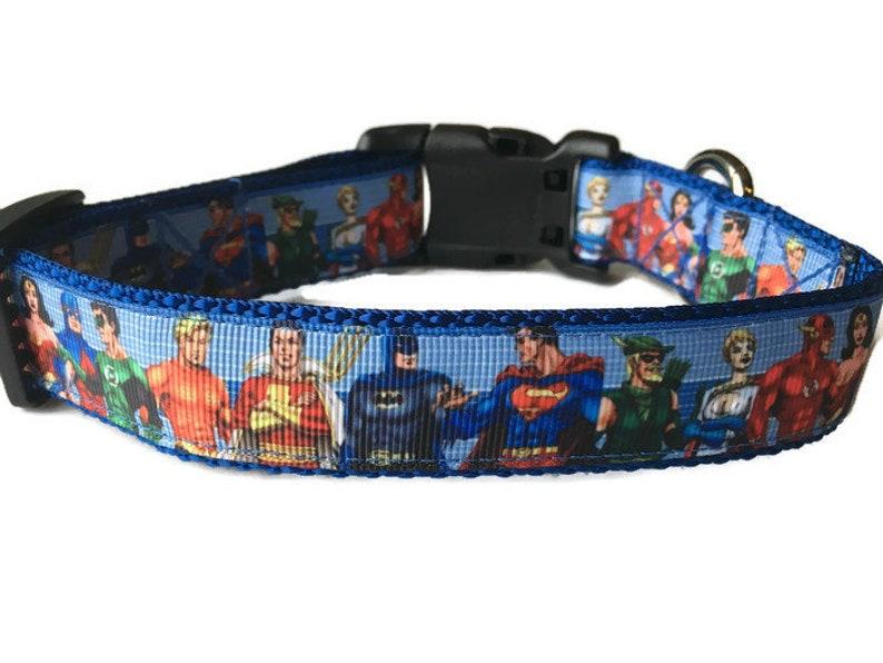 Justice League 1 Medium Dog Collar