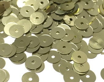 20% RECYCLED PET SEQUINS   6mm Circles   5 grams   800+ Sequins