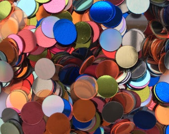 20% recycled PET sequins   8mm circles   no holes   mixed colours