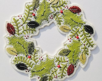 Christmas Wreath Sewing Kit - Green