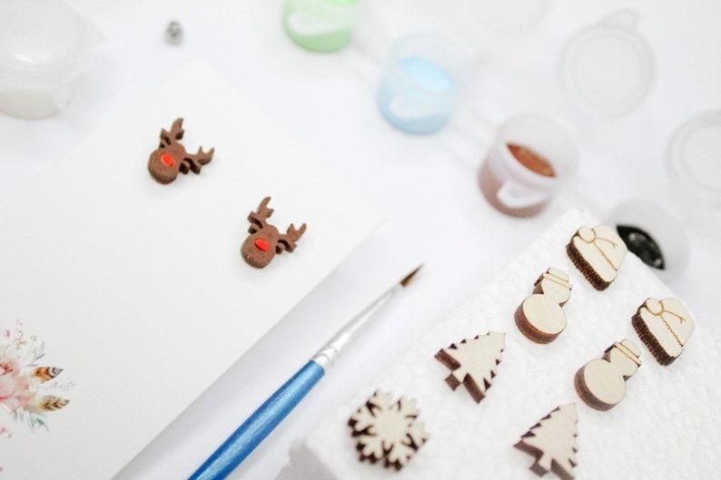 Winter Wonderland Paintable Earring Kit