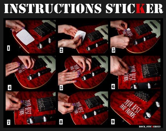 James Hetfield guitar stickers pinstripe vinyl decal ESP Eclipse JH-3  Metallica set 6