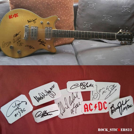 AC//DC V07 Car Window Sticker Rock Sign AC DC Angus Young Back in Black ACDC
