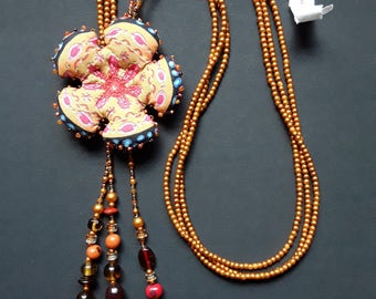 """""""Flower & pearls"""" necklace"""