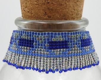 wide bracelet, fringe bracelet, cuff