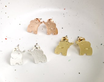 Elephant Earrings, cute bridesmaid gift, gifts for her, elephant jewelry
