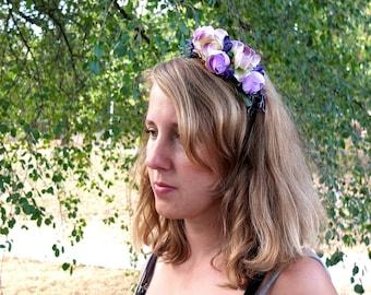 Ladybug hairband hairband for photos white flower hairband etsy violet and white flower hairband mightylinksfo