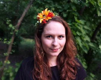Yellow flower hairband