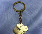 Mastiff Pendant Keychain Dog Breed Key Ring Gift for Dog Lovers Enamel Charm Key Ring Dog Memorial Gift