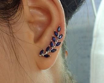 Enamel Earrings Urban Jewellery Colour Earrings,Sterling Silver Earrings Unusual Earrings Blue Earrings Something Blue Unique Earrings