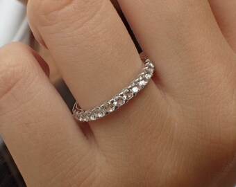 dfda3a9d119 Diamond Eternity Band Women Wedding Ring Gold Diamond Bridal Band Matching  Band Engagment Ring White Gold 545 Gold Full 14k Sku d15