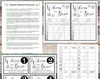 picture about Bunco Rules Printable identified as Bunco printables Etsy