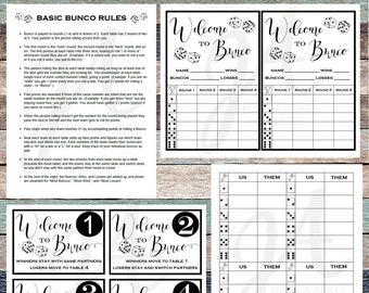 photo regarding Bunco Rules Printable identified as Bunco printables Etsy