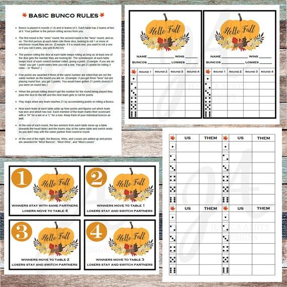 photo about Printable Bunco Cards named Slide Printable Bunco Playing cards