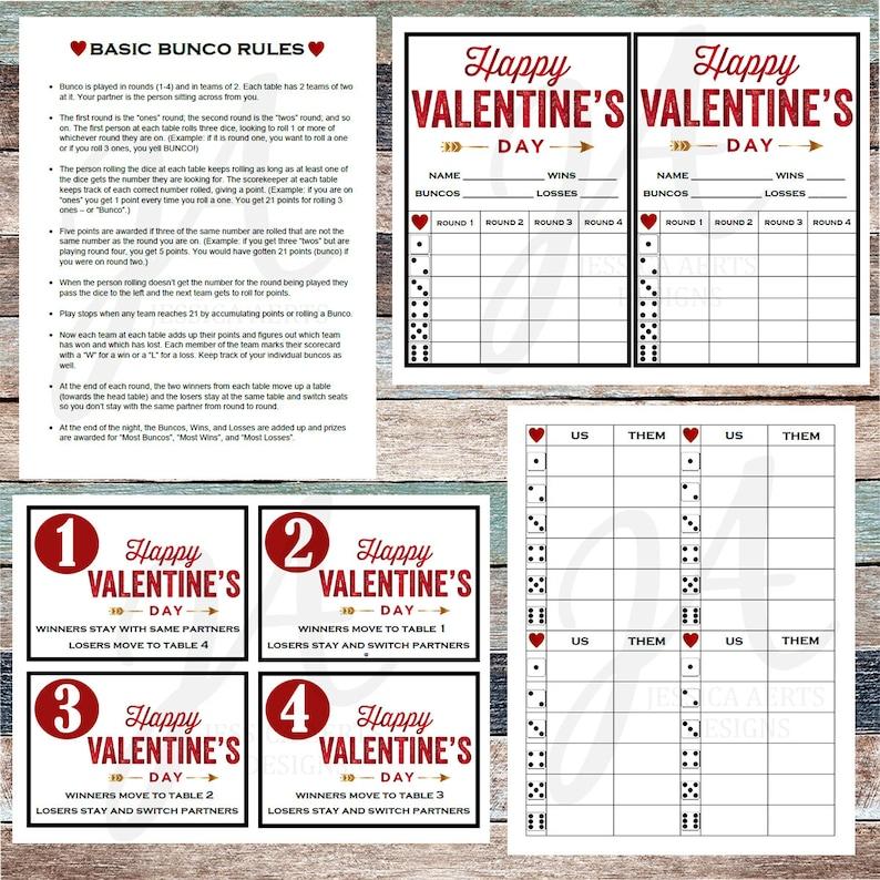 photograph regarding Bunco Rules Printable named Valentines Printable Bunco Playing cards