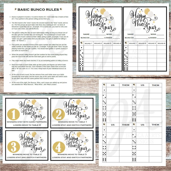 graphic regarding Bunco Rules Printable referred to as Fresh Decades Printable Bunco Playing cards
