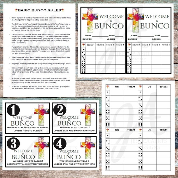 photo relating to Printable Bunco Cards named Non secular Printable Bunco Playing cards