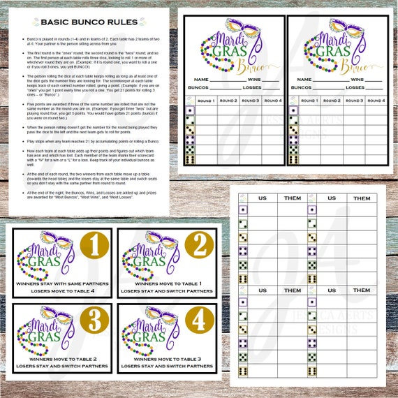 picture relating to Printable Bunco Cards identify Mardi Gras Printable Bunco Playing cards