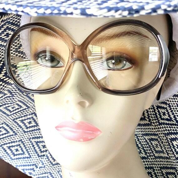 VTG Eyeglasses Big Chunky Funky Boho Kitsch bug ey