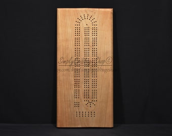 Cribbage Board Exotic Wood Handmade Cribbage Board Woodworking 3 Man Cribbage Board Handcrafted Purple Heart Cribbage Board