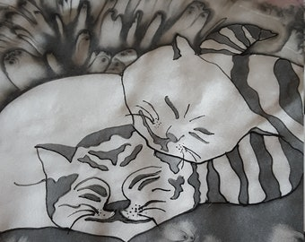 Cats And Silk