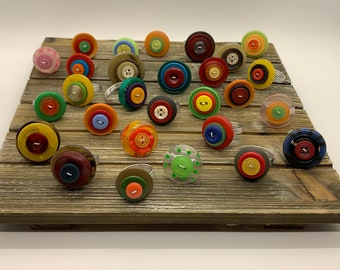 Colorful Button Rings Custom Made