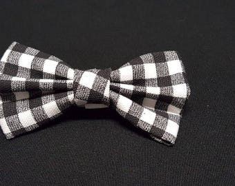 Black White Plaid Bow Ties
