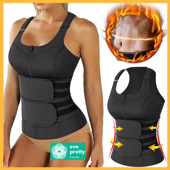 Waist Trimmer Body Shaper Sauna Sweat Suit Belly Slimming Sheath Modeling Trimmer Belt Weight Loss Corset Top