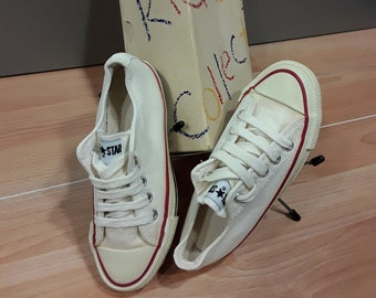 580612c5dd0 ALL STAR Converse NEW Chuck Taylor Made in U.S.A. vintage 1980 s canvas  basketball kid s shoes with original box