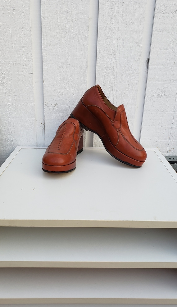 Vintage Shoes, Platform Shoes, 1990's Made in Ital